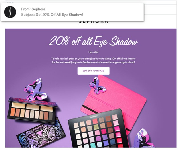 Sephora ad anti spam laws | Off the Lip blog