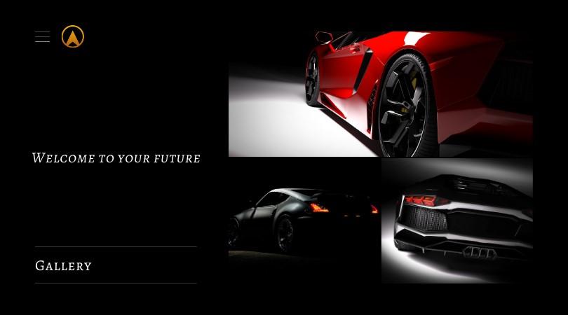 luxury auto ux design example