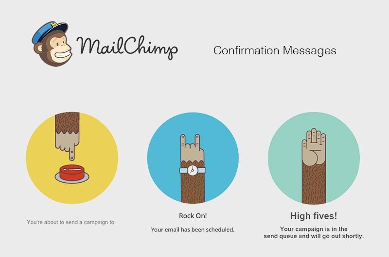 mailchimp ux example